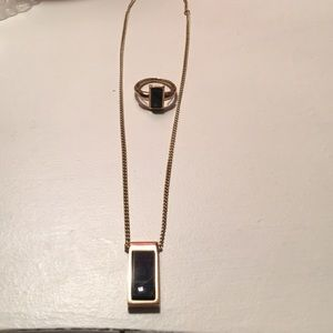 Avon necklace and ring set
